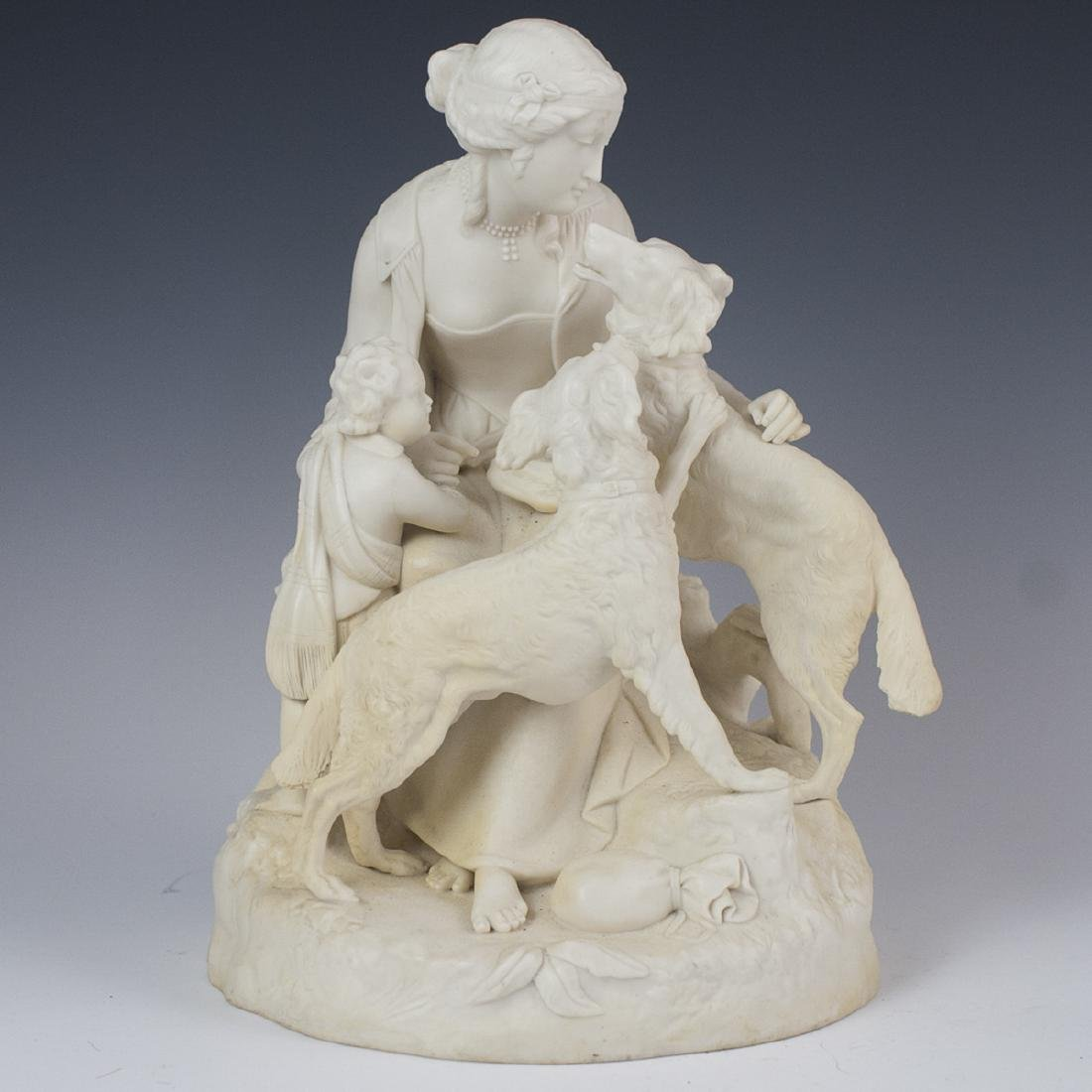 Antique Parian Ware Sculpture
