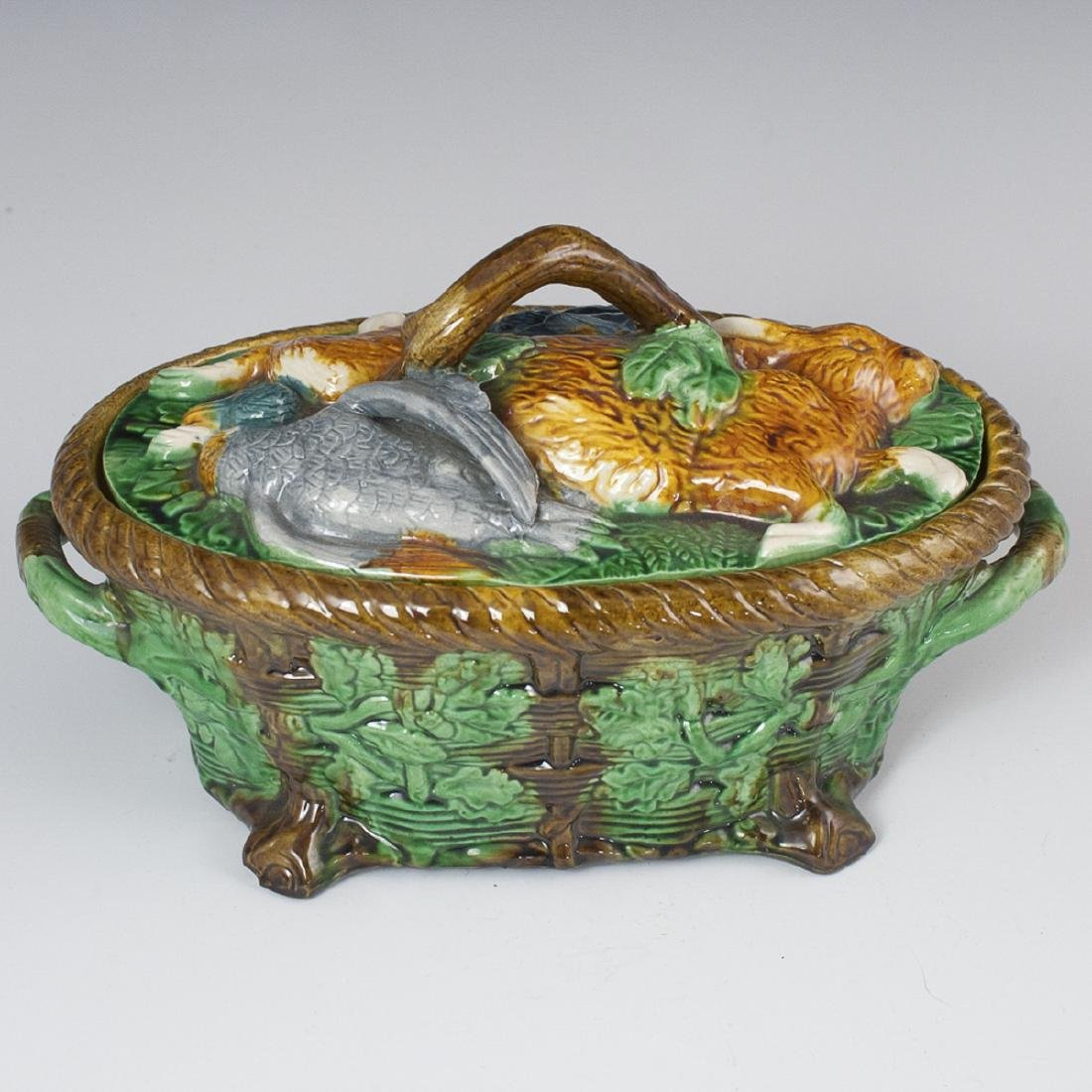 Antique George Jones Majolica Game Dish
