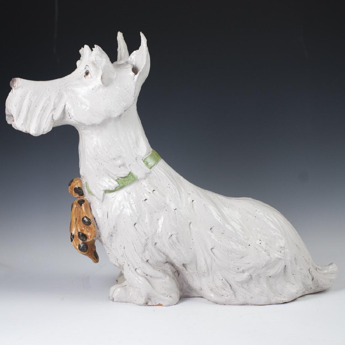 Vintage Italian Majolica Terrier