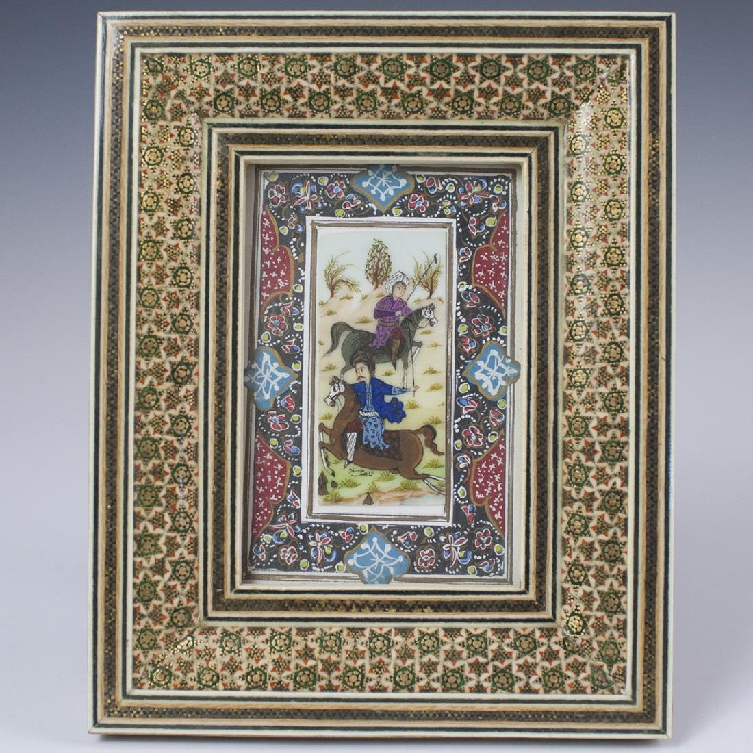 Persian Signed Painting on Bone