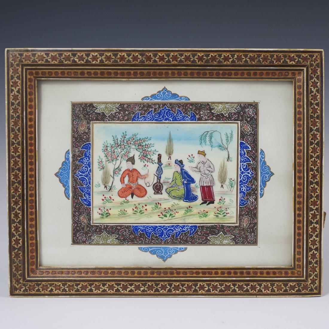Persian Painting on Bone