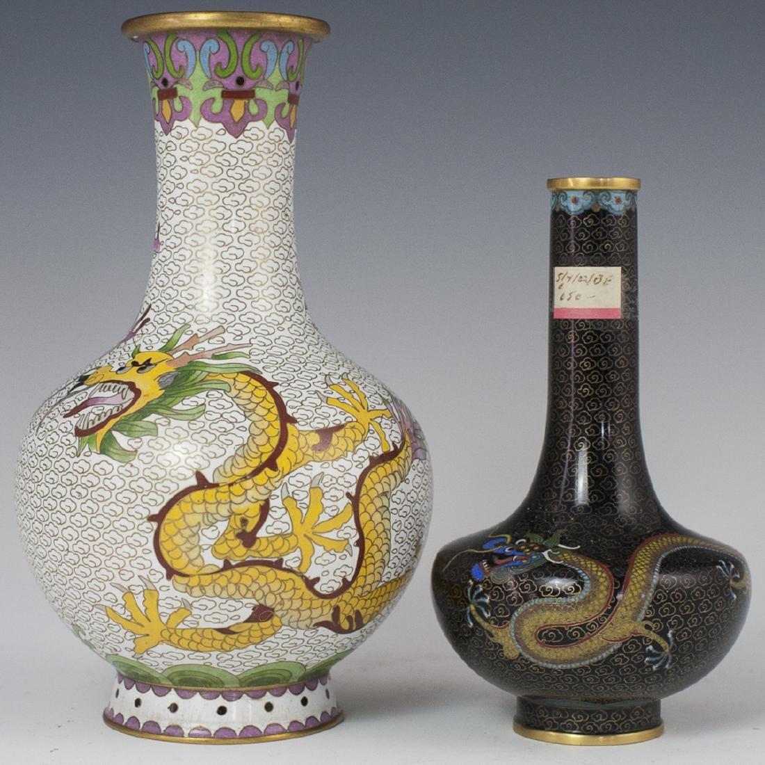 Chinese Cloisonne Enameled Vases