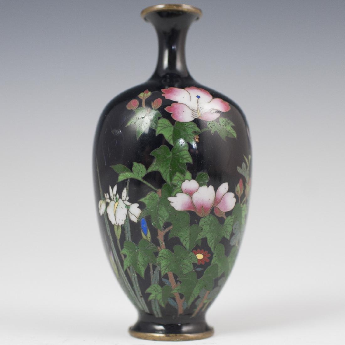 Japanese Cloisonne Enameled Vase