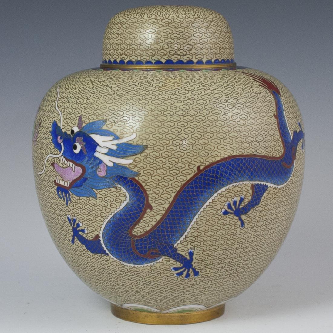 Chinese Cloisonne Enameled Ginger Jar