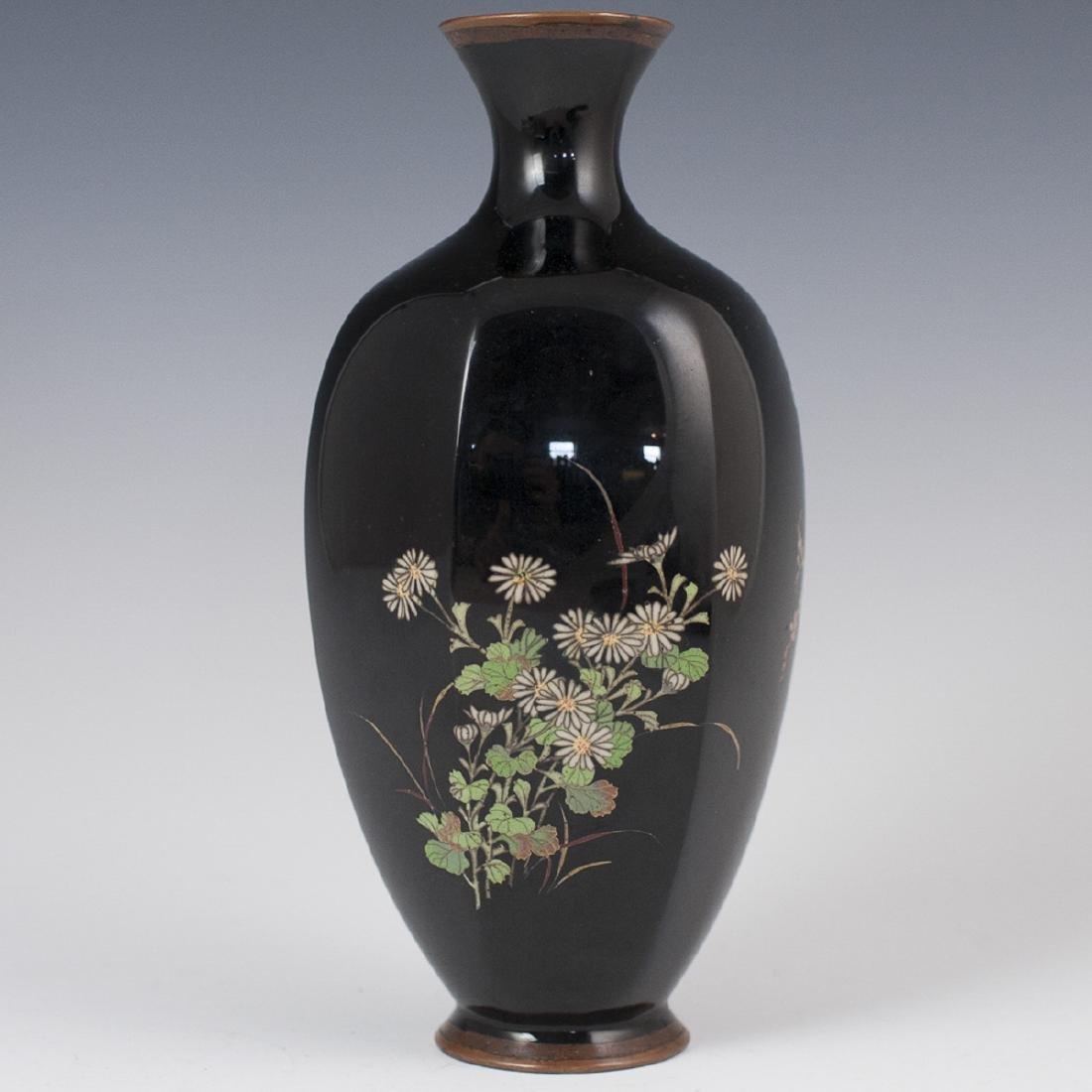 Japanese Meiji Cloisonne Enameled Vase
