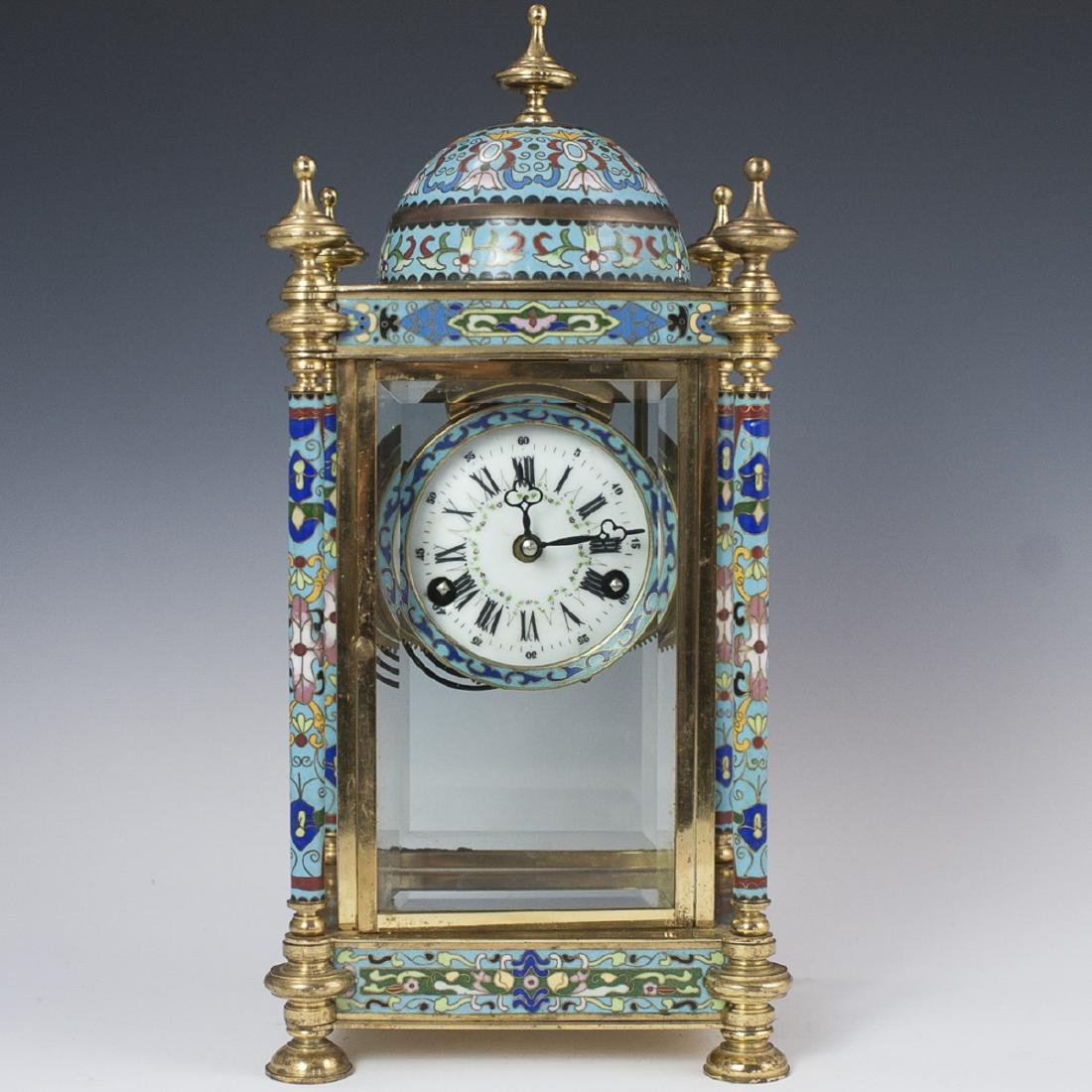 Chinese Republic Enameled Cloisonne Clock