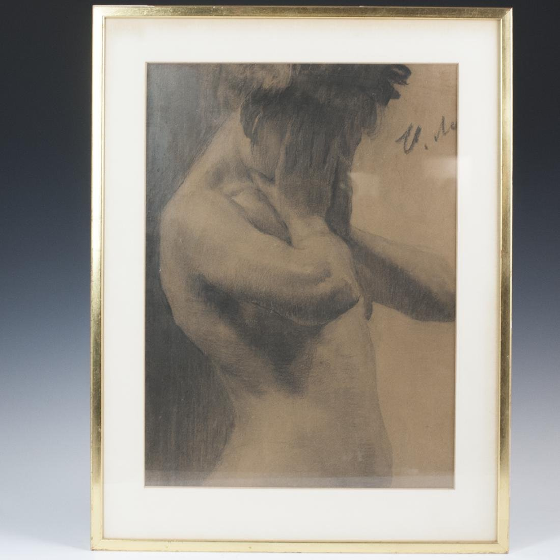 Signed Nude Etching on Paper