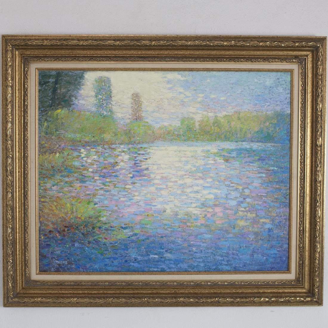 Vintage Signed Impressionist Oil on Canvas