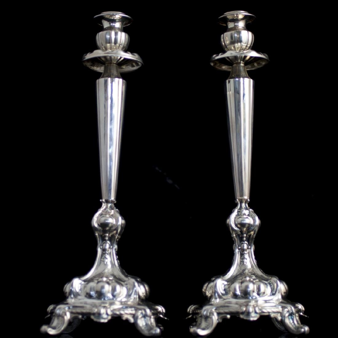 Vintage Sterling Silver Candlesticks
