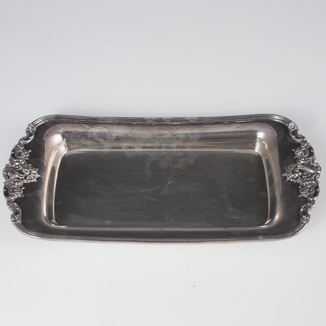 """Wallace """"Baroque"""" Silver Plated Bread Tray"""