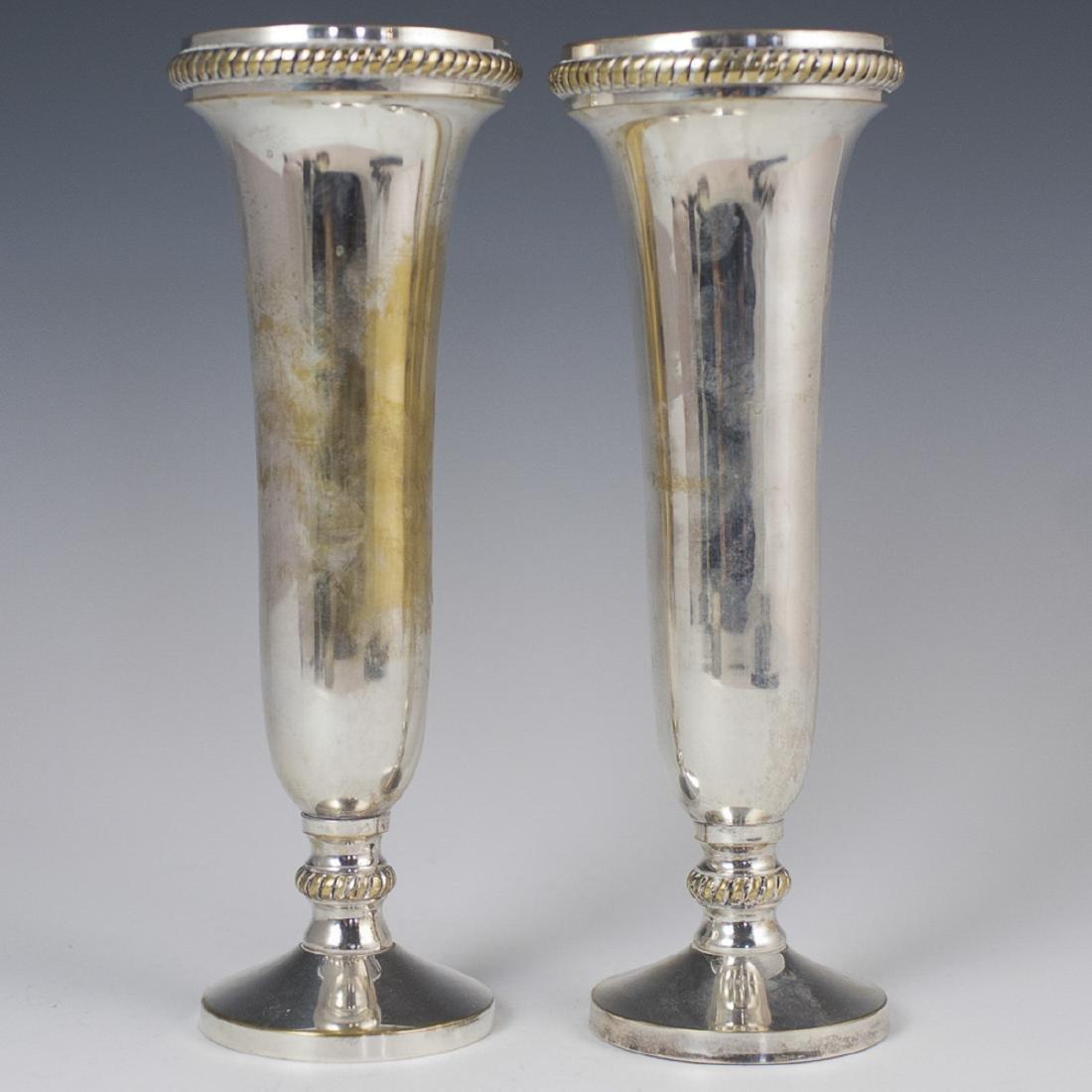 Vintage Silver Plated Vases