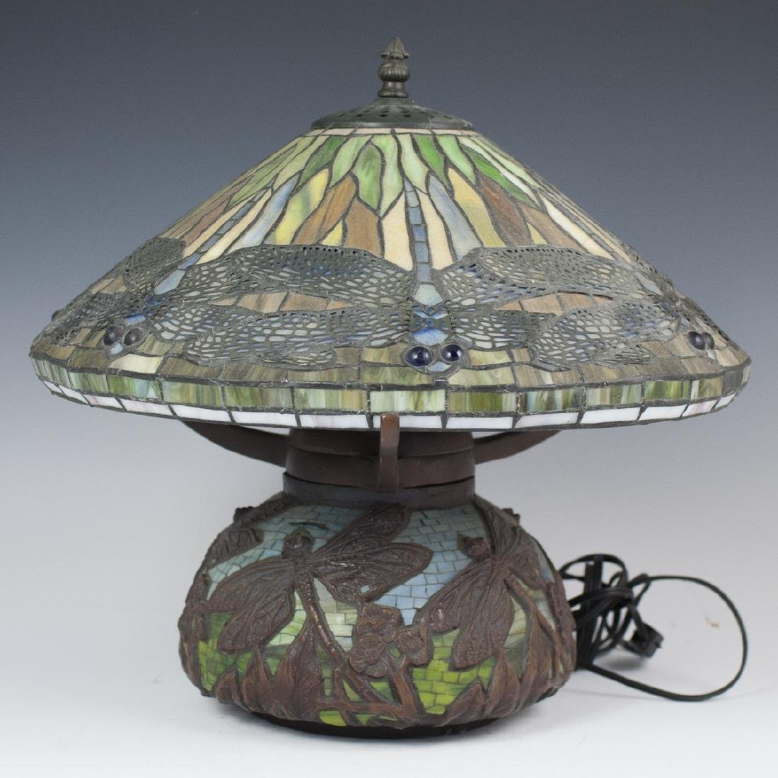 Tiffany Style Slag Glass Lamp
