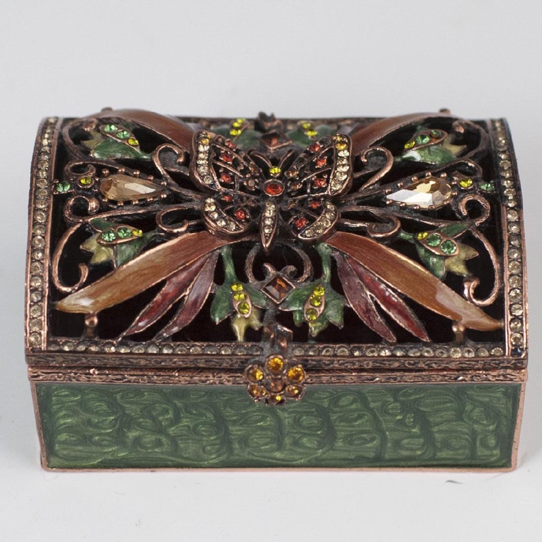Jay Strongwater Enameled Trinket Box