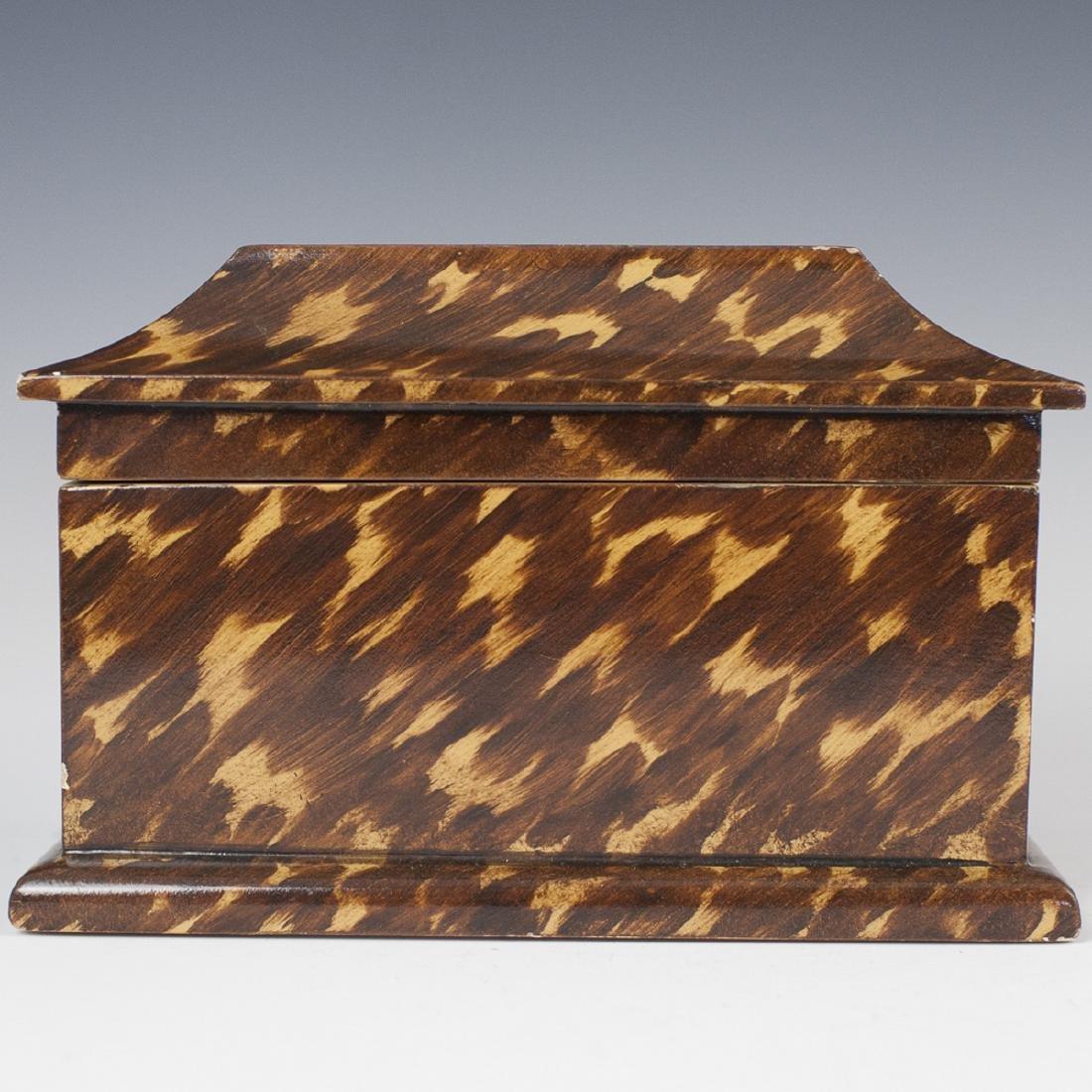 Faux Tortoise Shell Wooden Box