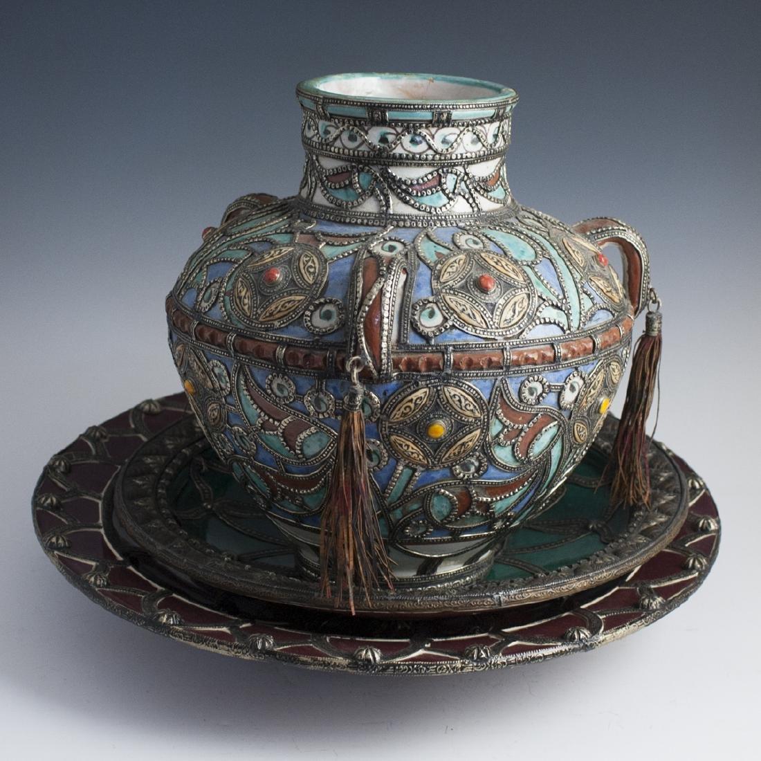Vintage Moroccan Glazed Pottery