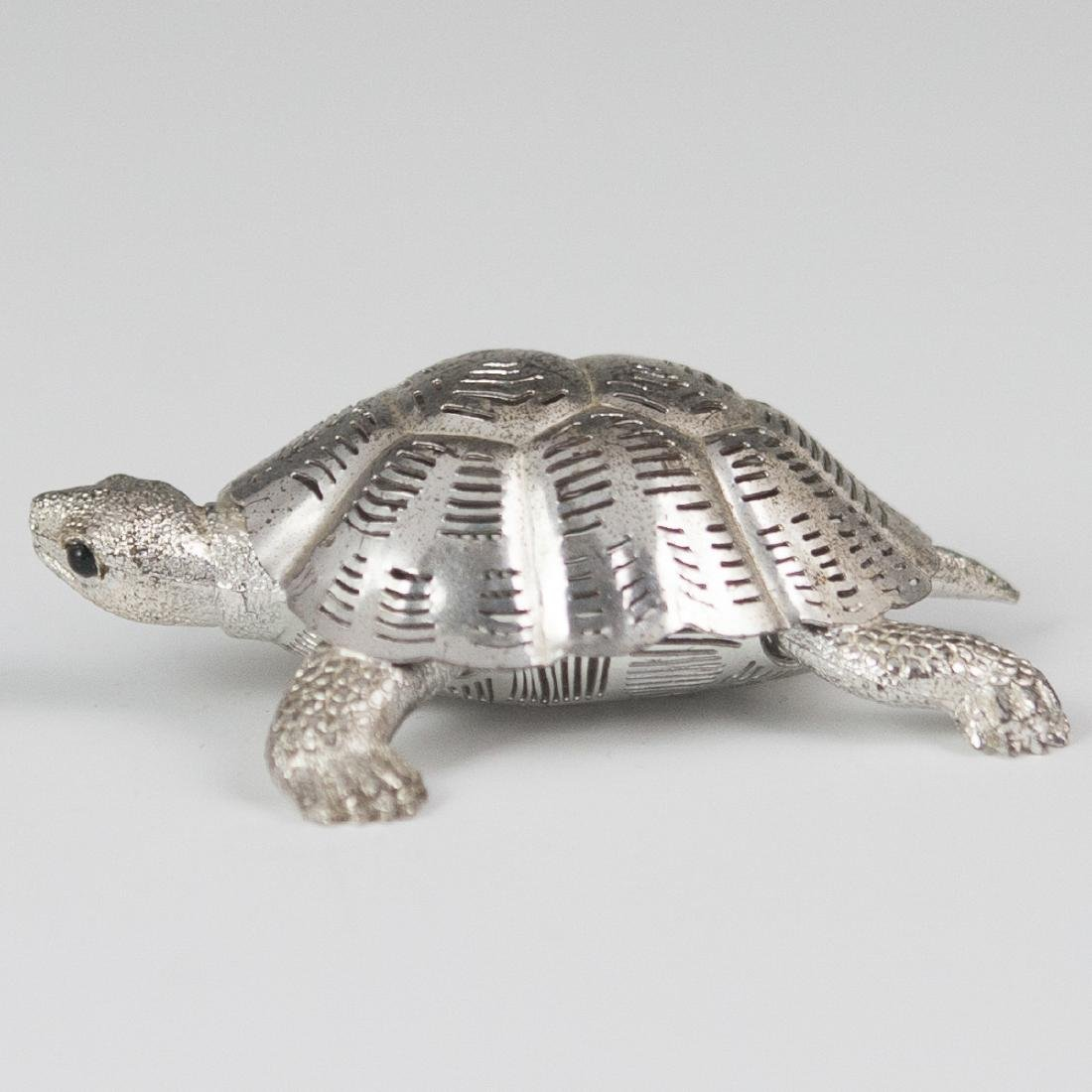 Christofle Lumiere silver plated Turtle