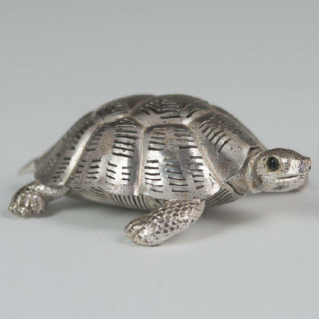 Christofle Lumiere silver plated Turtle - 2