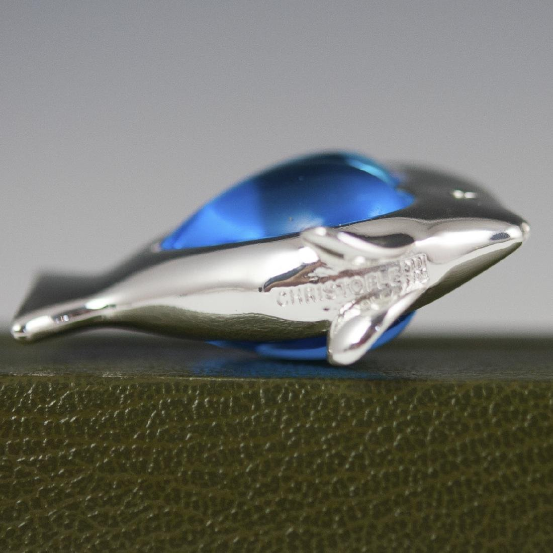 Christofle Silver Plated Glass Paperweight - 2