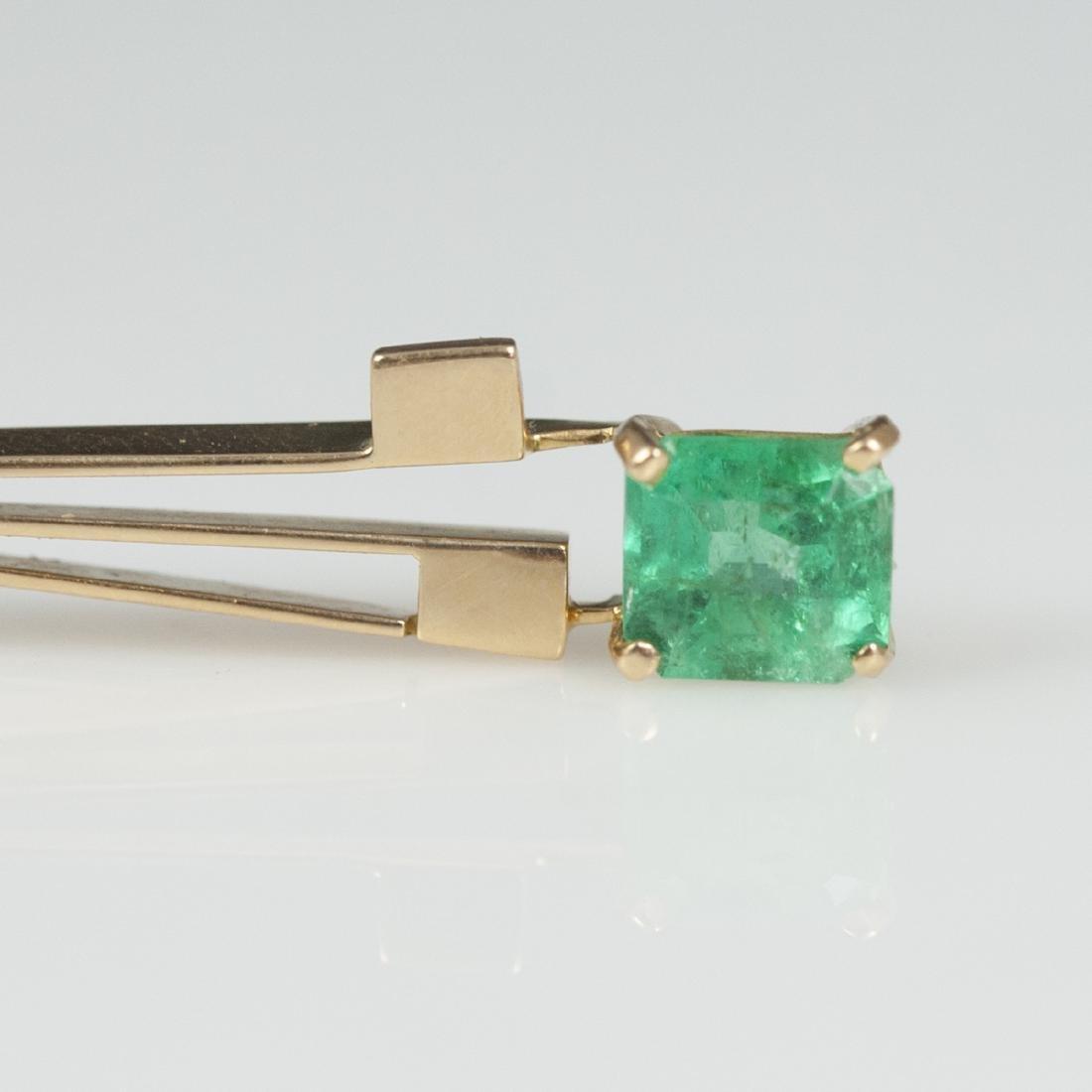 18kt Gold & Emerald Pendant - 2