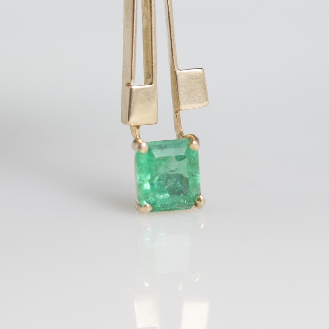 18kt Gold & Emerald Pendant - 5