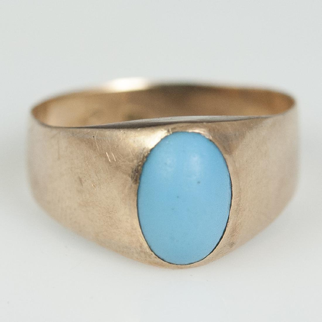 18kt Rose Gold Persian Turquoise Ring