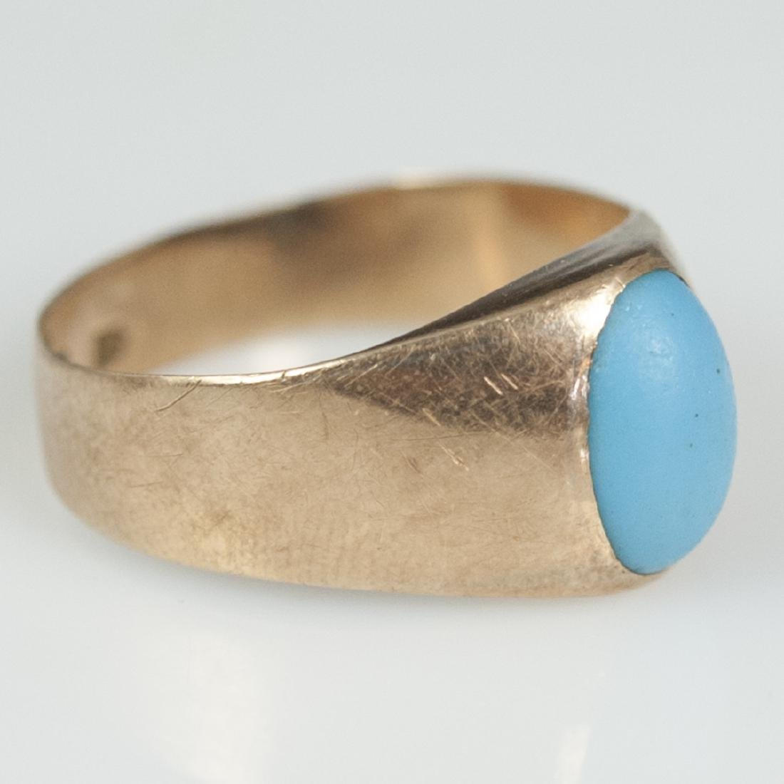 18kt Rose Gold Persian Turquoise Ring - 2