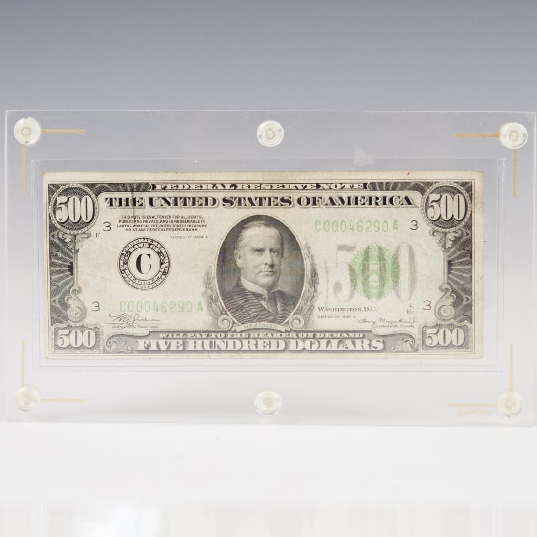1934 A 500 Dollar Bill