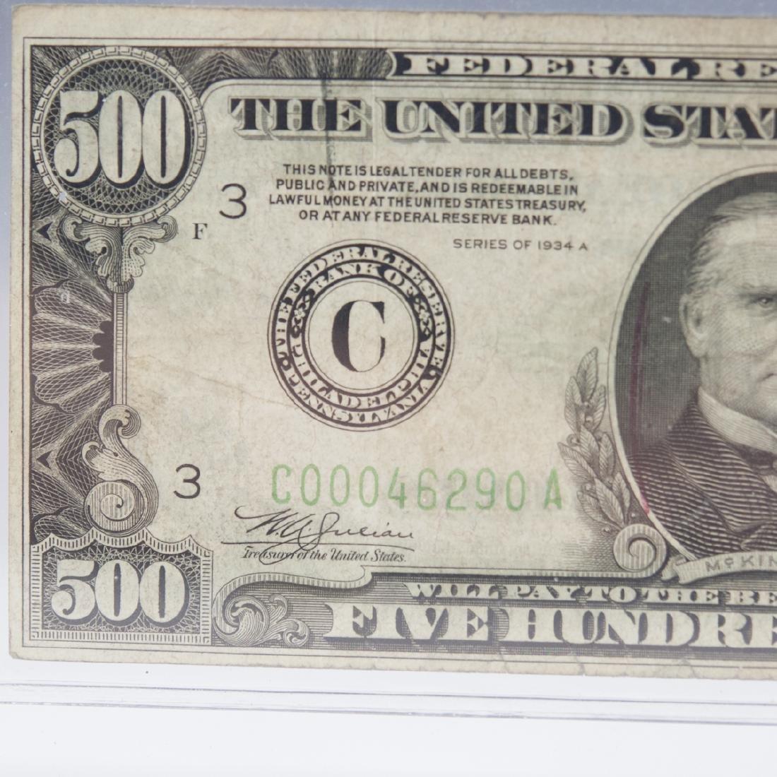 1934 A 500 Dollar Bill - 6