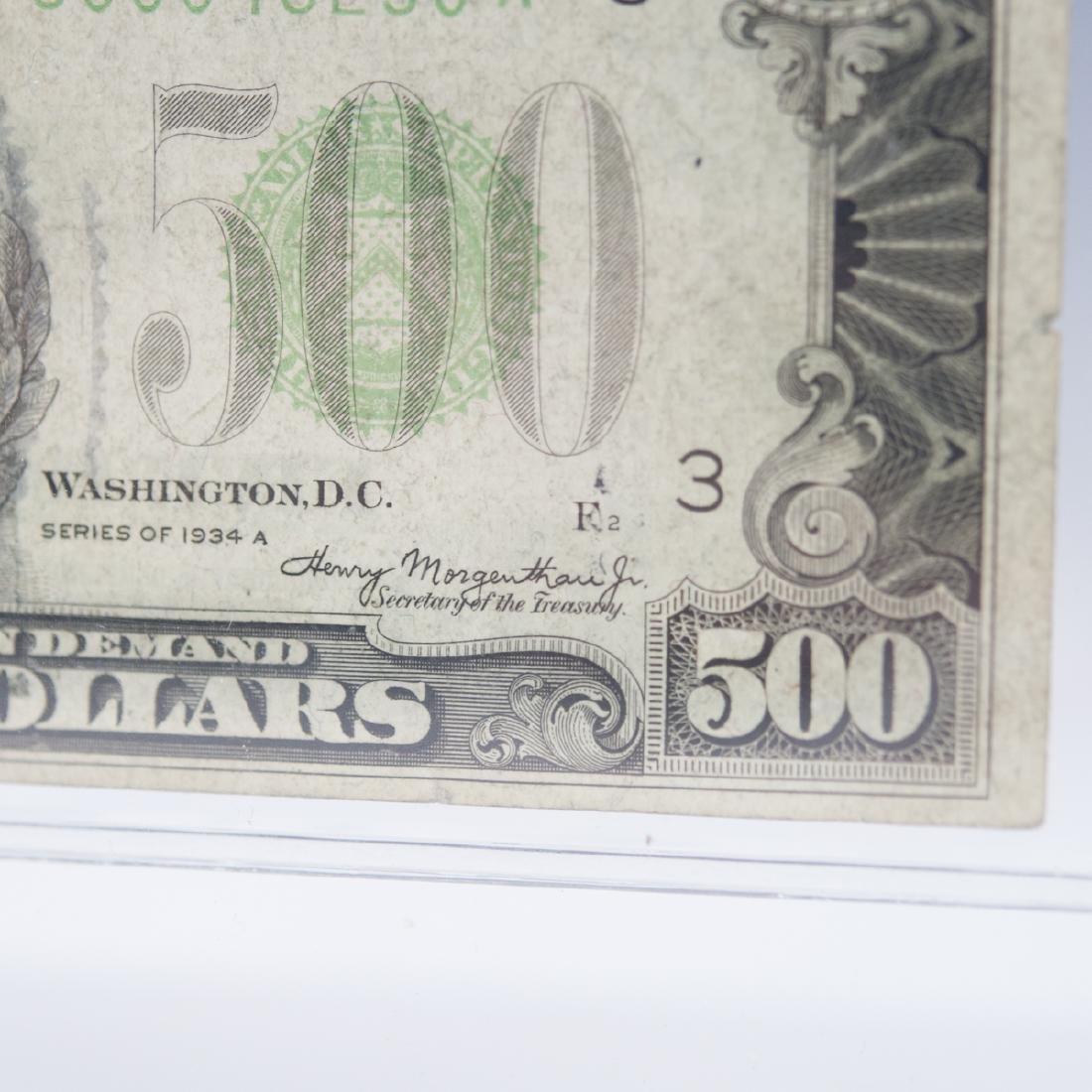1934 A 500 Dollar Bill - 7