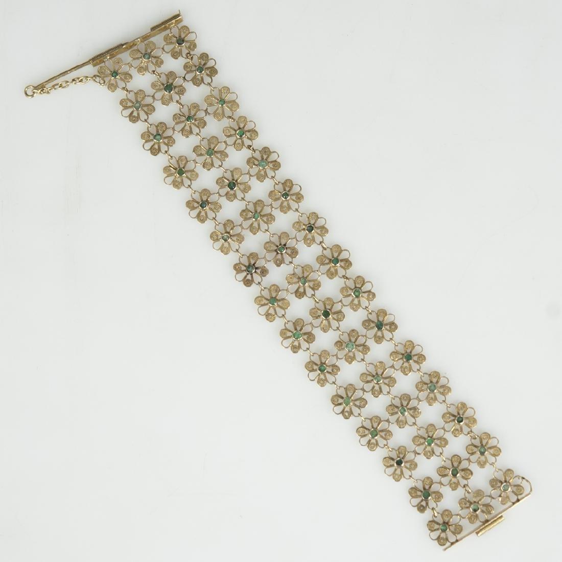 Vintage 14kt Gold & Emerald Bracelet - 3