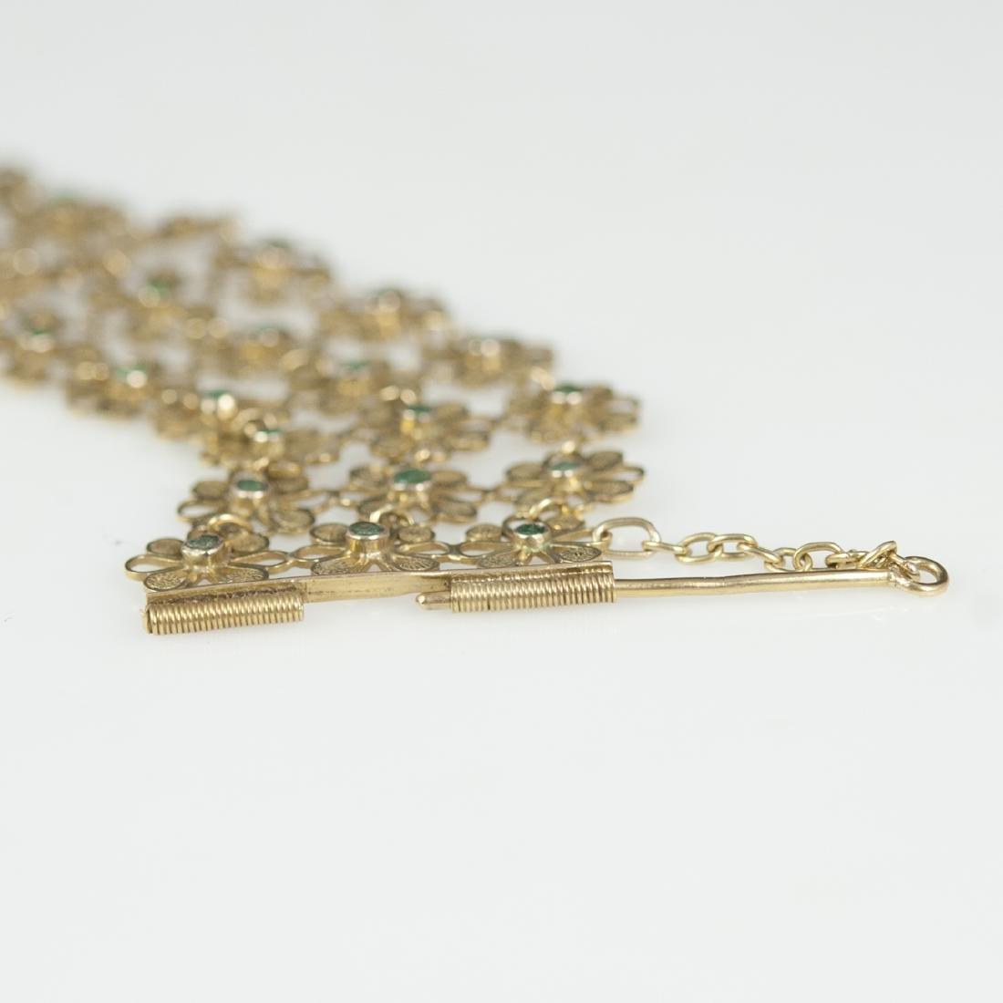 Vintage 14kt Gold & Emerald Bracelet - 4