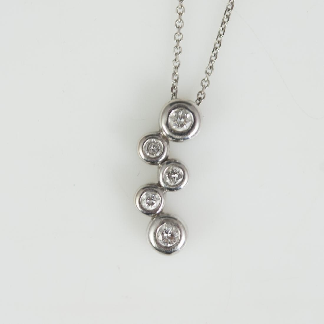 14kt Gold & Diamond Necklace - 2