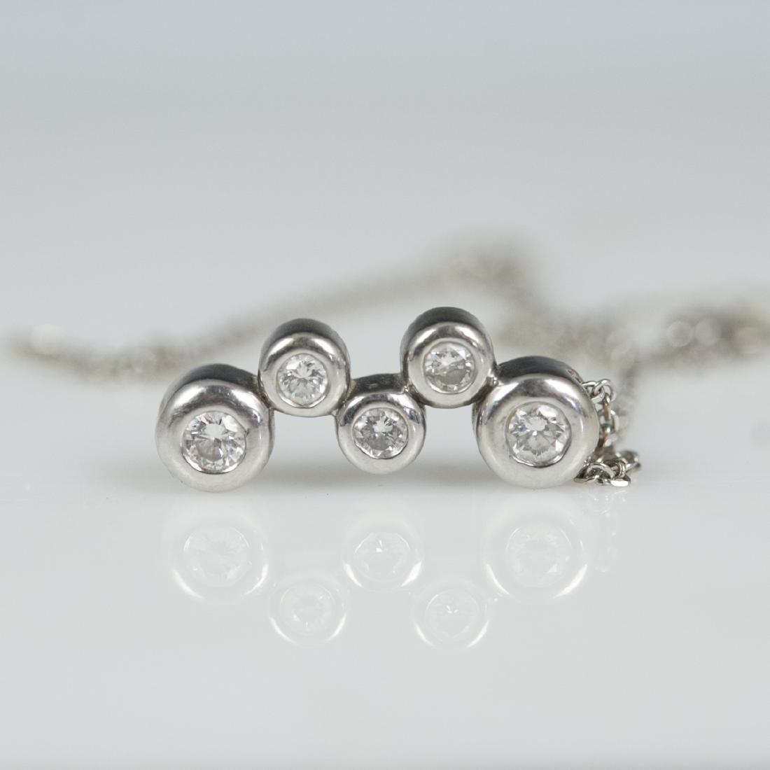14kt Gold & Diamond Necklace - 4