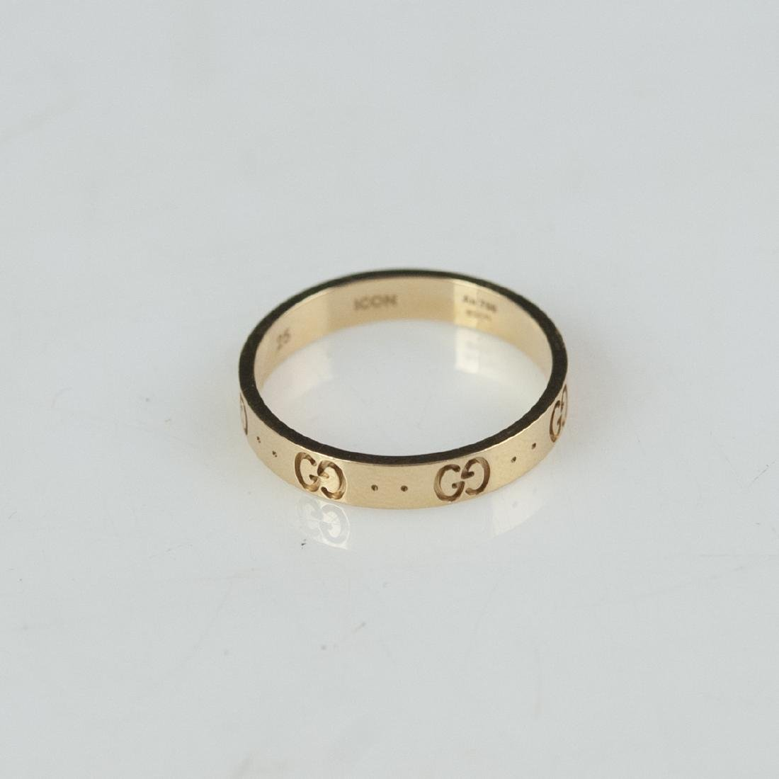 18kt Gucci Icon Ring - 7