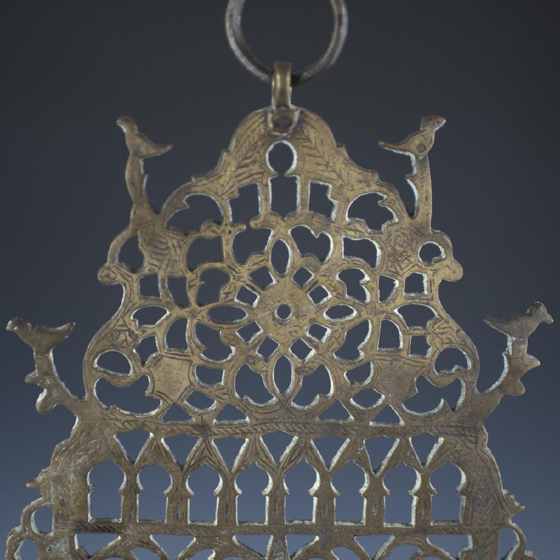 Antique Moroccan Bronze Oil Menorah - 2