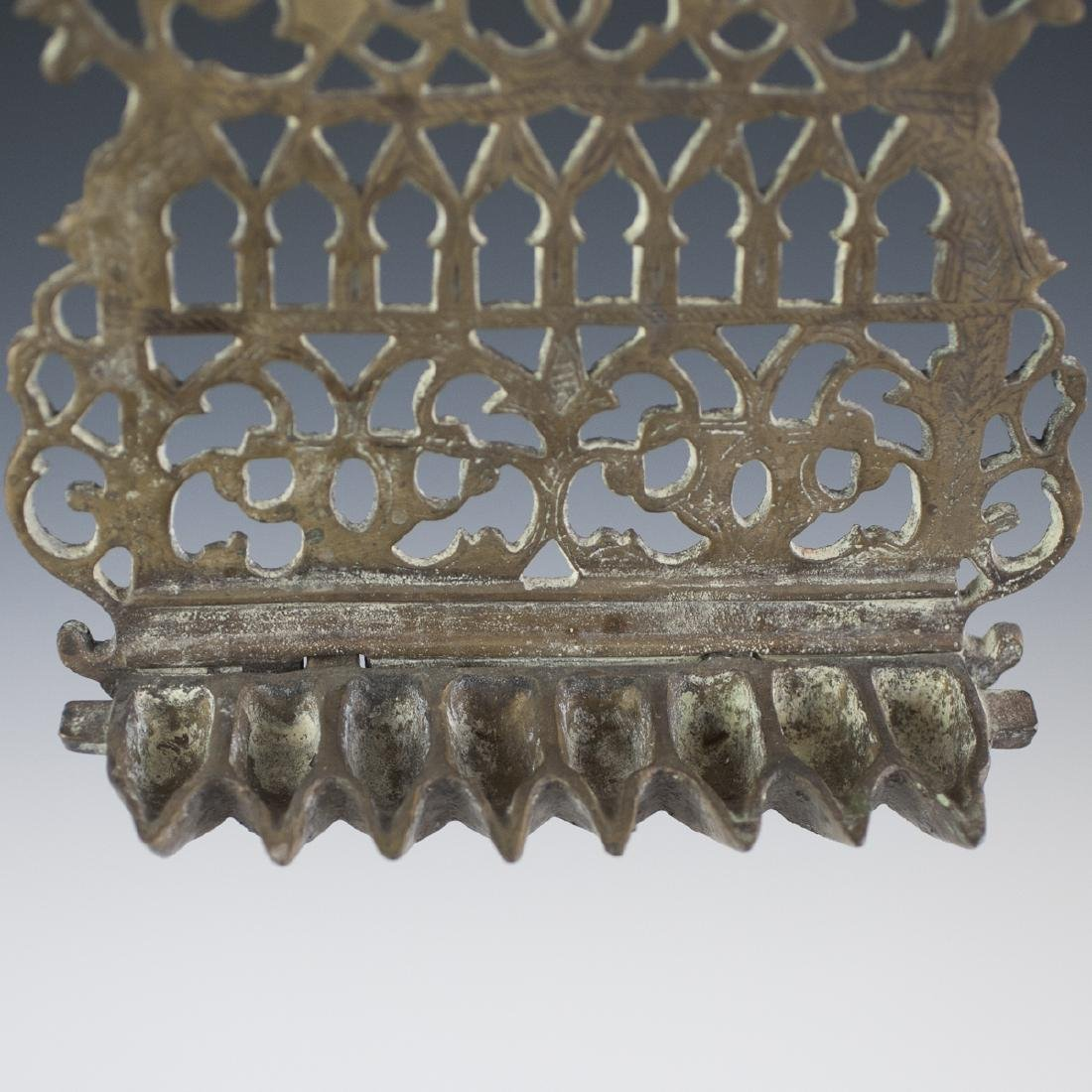 Antique Moroccan Bronze Oil Menorah - 4