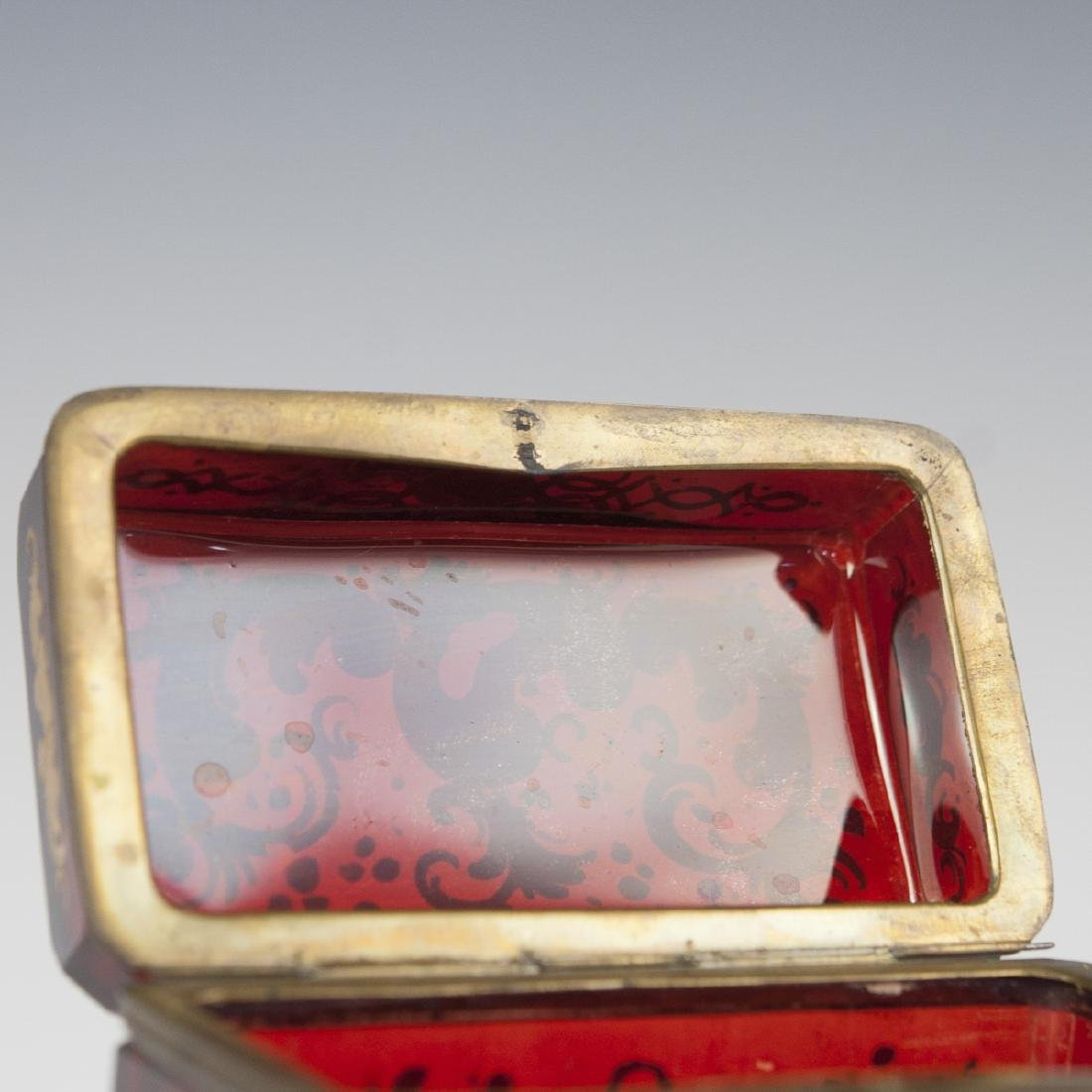 Antique Moser Ruby Glass Box - 2