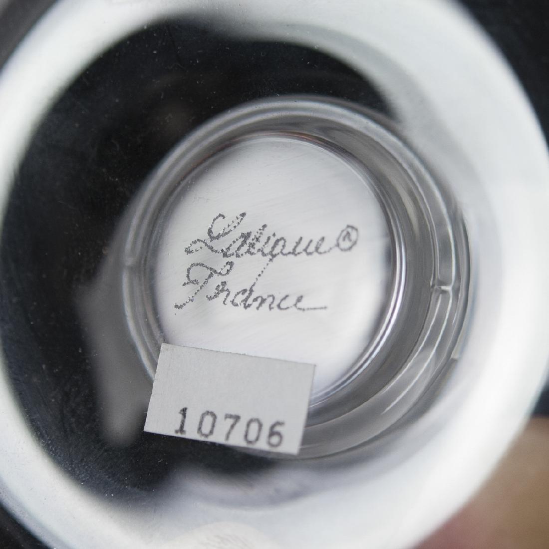 "Lalique Crystal ""Lovebirds"" Pin Tray - 3"