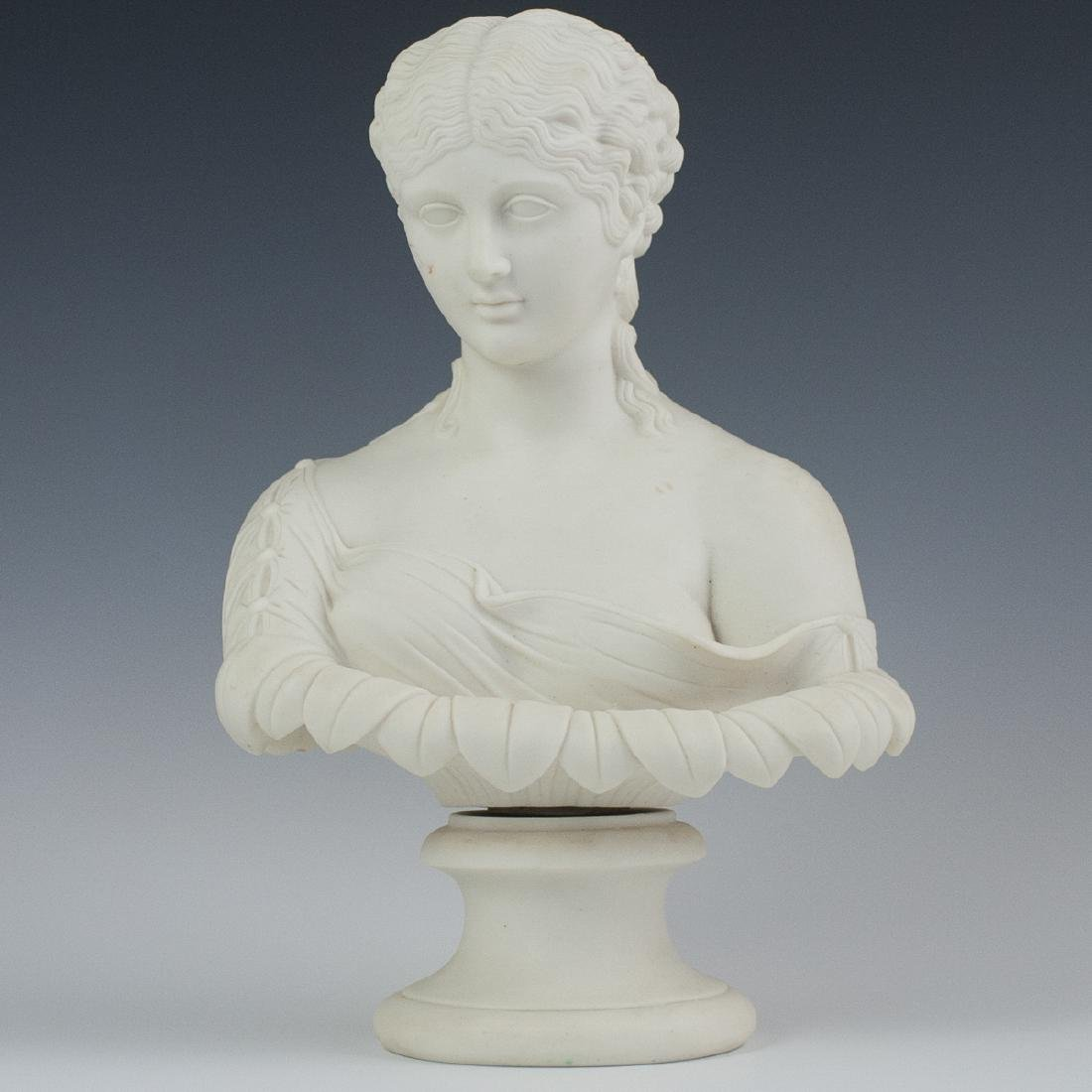 Antique French Parian Ware Bust