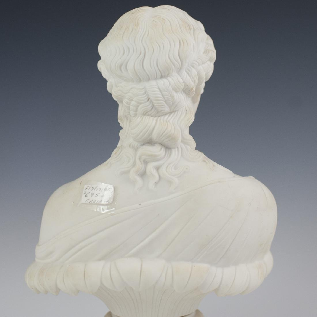 Antique French Parian Ware Bust - 3