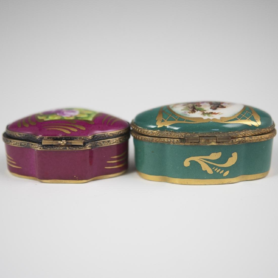 Limoges Porcelain Trinket Boxes - 4