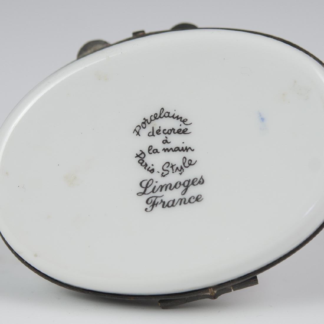 Limoges Paris-Style Porcelain Pill Box - 3