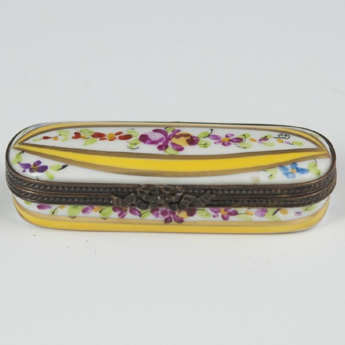 Limoges Porcelain Needle Box