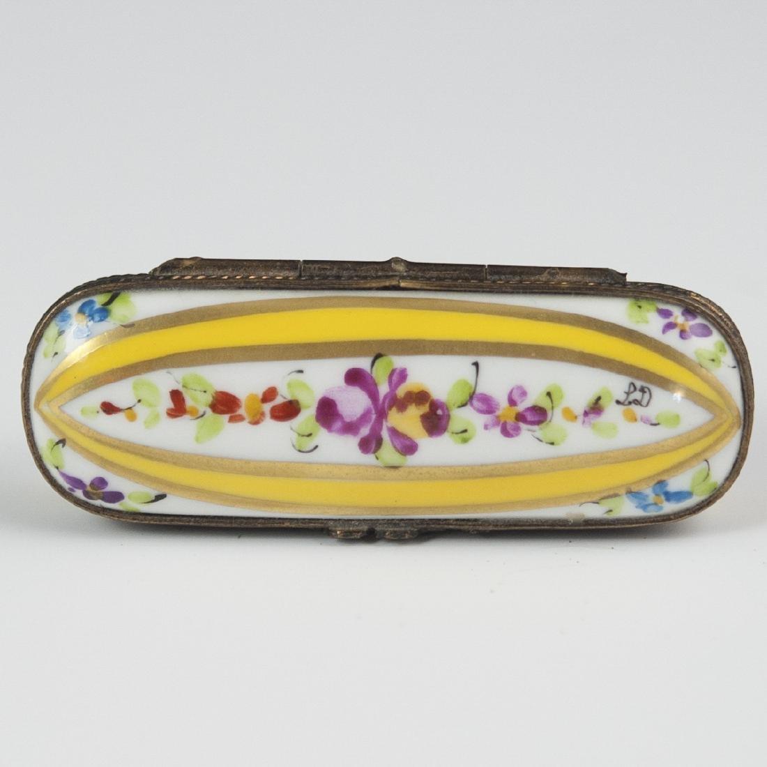 Limoges Porcelain Needle Box - 2