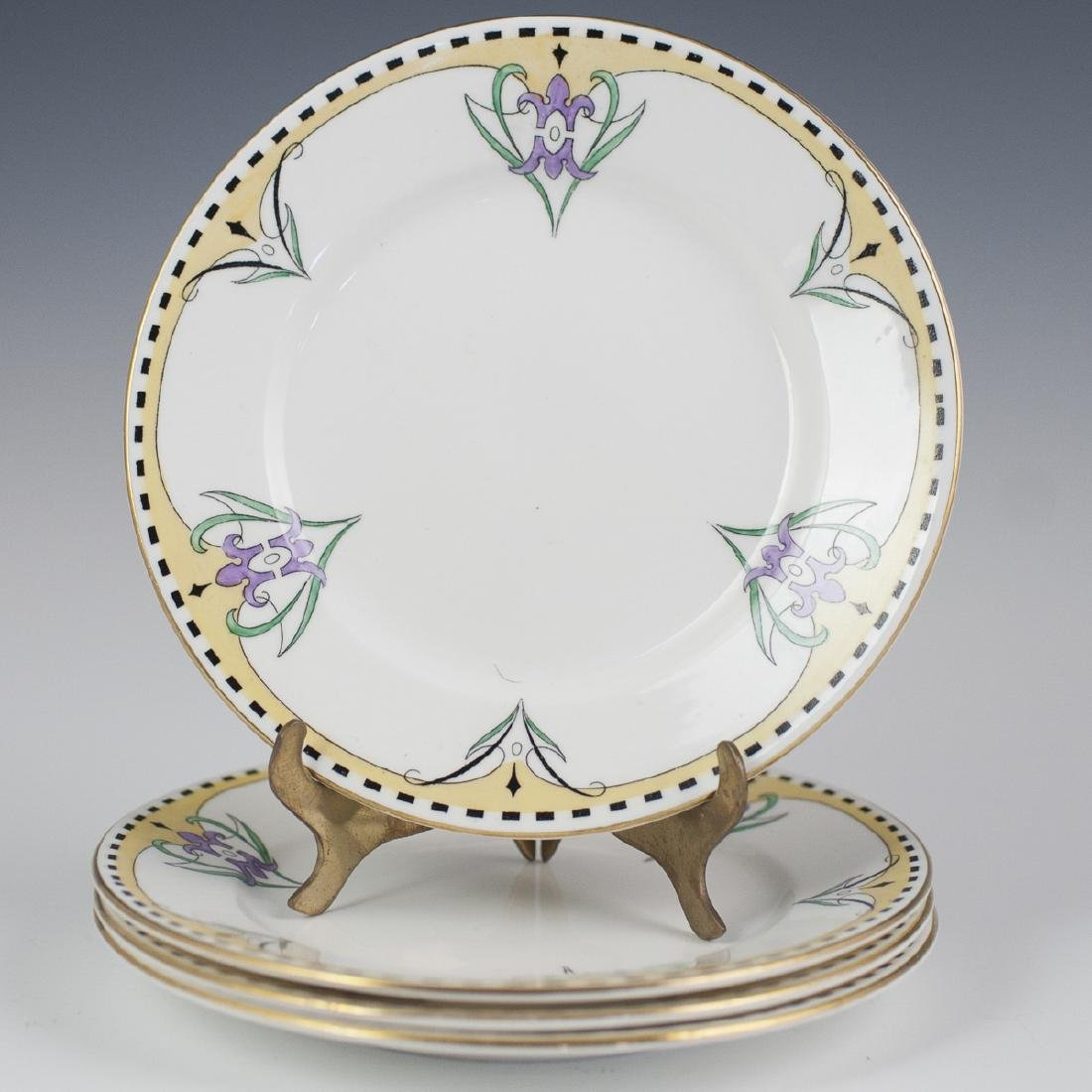 Shelley Art Deco Bone China Cocktail Plates