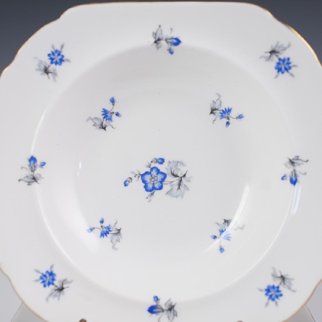 """Shelley """"Blue Charm"""" Porcelain Bowls - 5"""