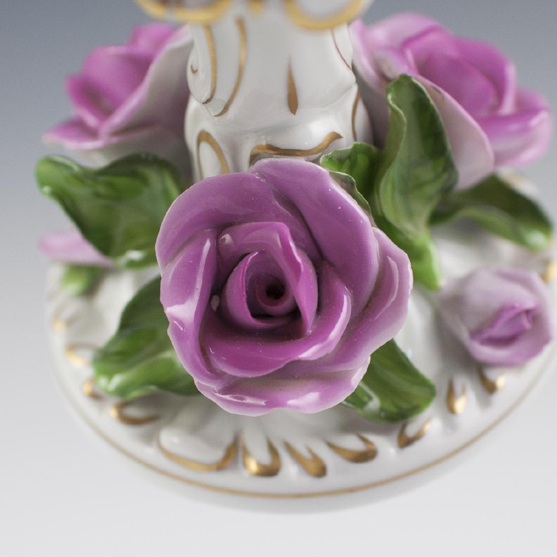 Herend Porcelain Candlestick - 4