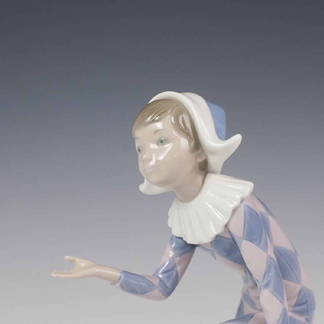 "Lladro Porcelain ""Harlequin C"" Figurine - 2"