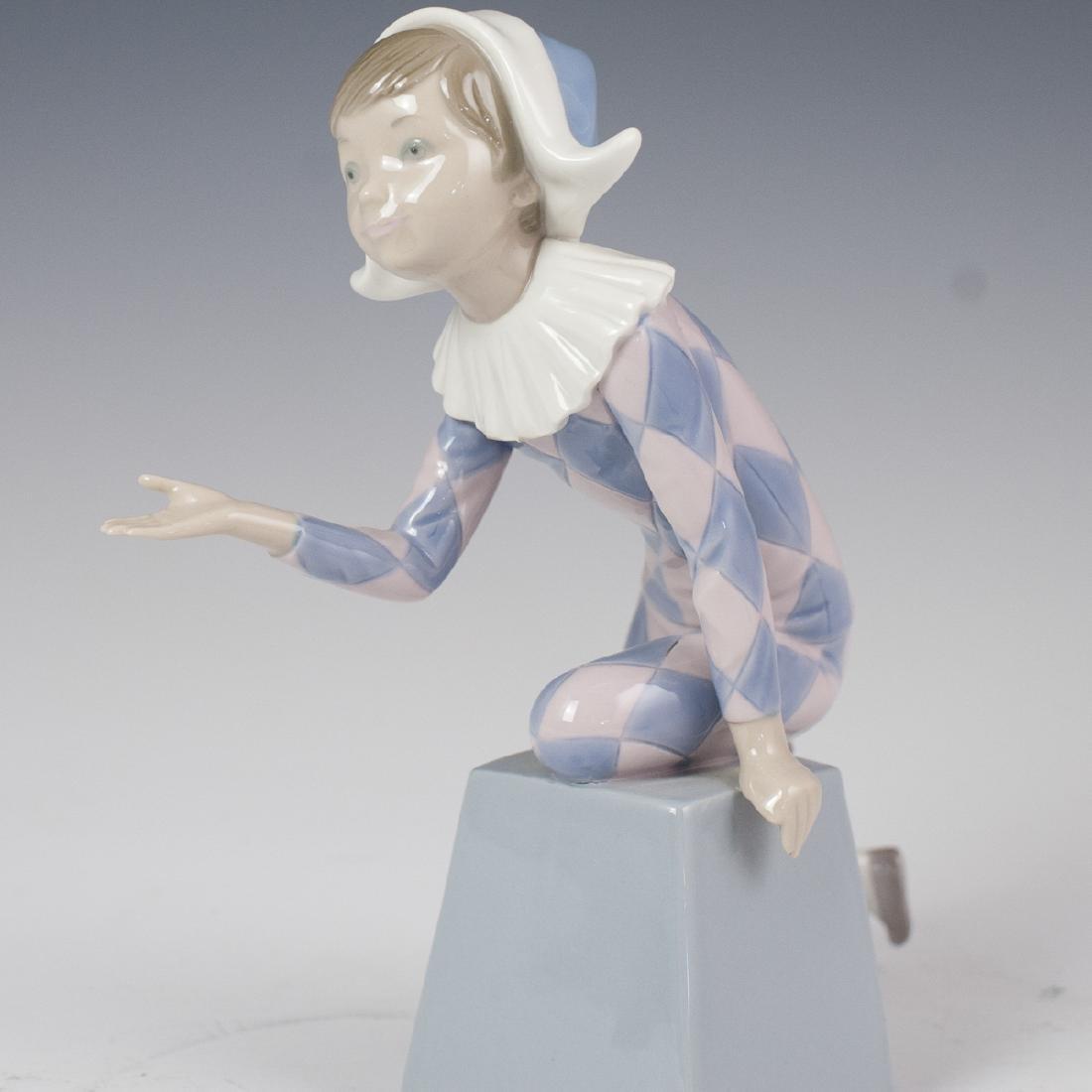 "Lladro Porcelain ""Harlequin C"" Figurine - 4"
