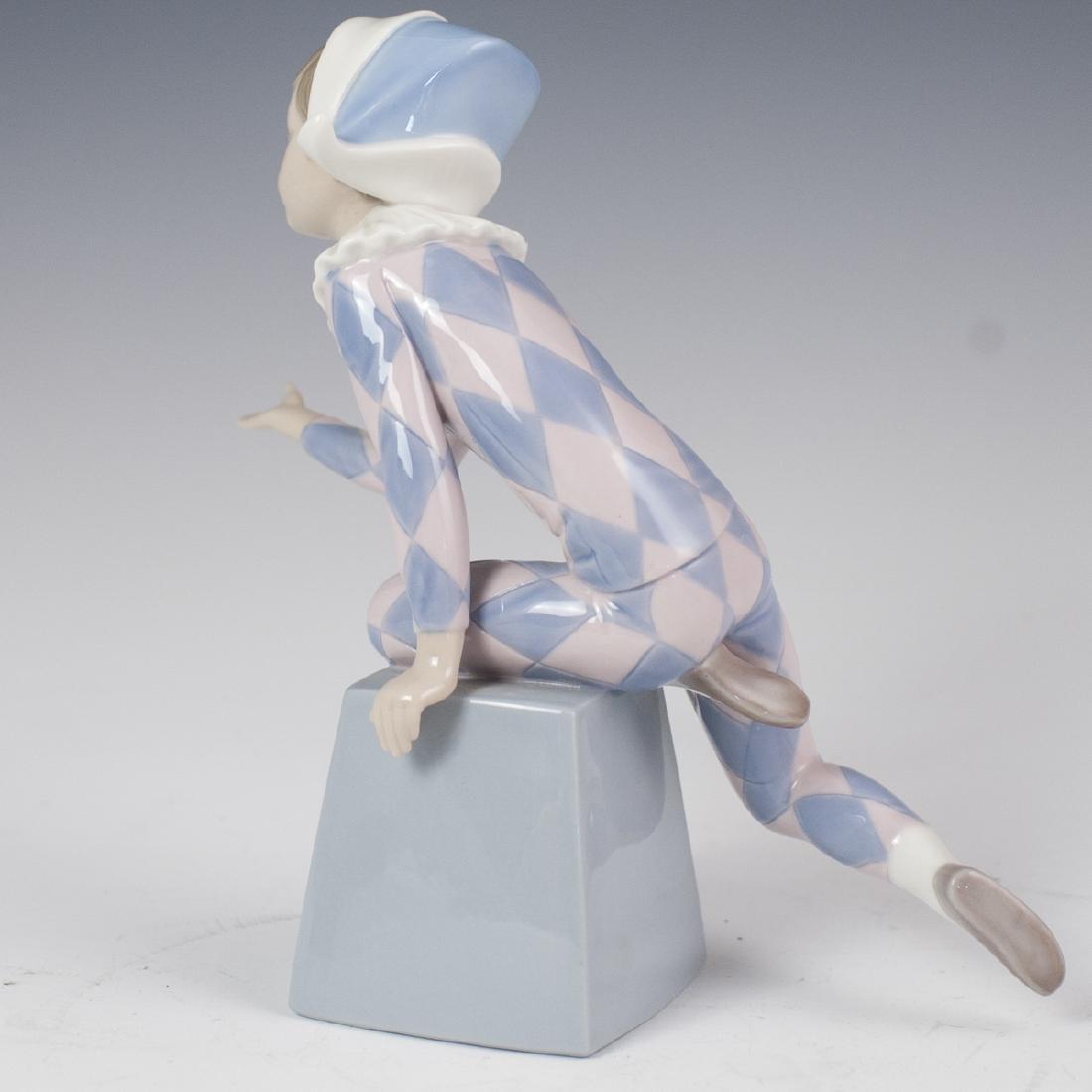 "Lladro Porcelain ""Harlequin C"" Figurine - 5"